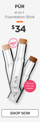 New! PUR 4-in-1 Foundation Stick, $34. availale in 24 shades.
