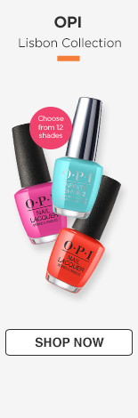 OPI Lisbon Collection 12 iconic shades available in Infinite shine and classic nail lacquer.