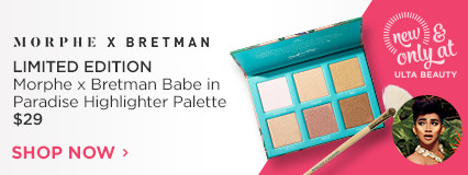 New & Only at Ulta Beauty Morphe X Bretman Bretman Rock Babe in Paradise Highlighter Palette $29.