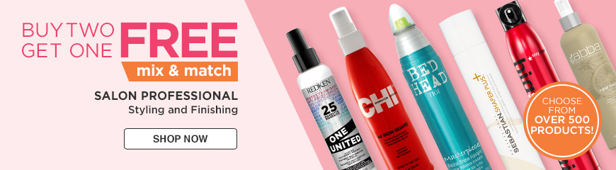 Buy 2 Get 1 Free Mix and Match Styling and FinishingChoose from Redken, Sexy Hair, Tigi and more!