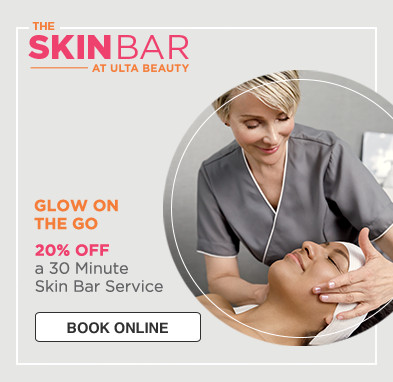 Skin Bar at Ulta Beauty. Glow on the Go! 20% off a 30 Minute Skin Bar Service.