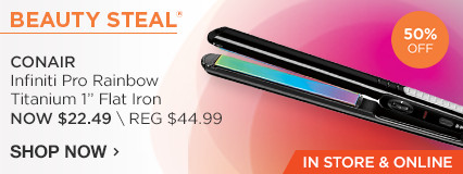 IN STORE AND ONLINE Beauty Steal! 50% OFF Conair Infiniti Pro Rainbow Titanium Flat Iron 1