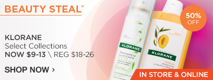 IN STORE AND ONLINE Beauty Steal! 50% Klorane Dry Shampoo, Mango and Peony Collections Now $9-13/ Reg $18-24