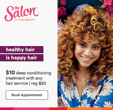 Healthy hair is happy hair! ALL GUESTS! $10 deep conditioning treatment with any hair service | Reg. $20 Book today.  Disclaimer: *$10 conditioning treatment valid for all guests with any hair service. Must present promotional offer at time of service.