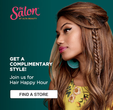 Get a complimentary style! Join us for Hair Happy Hour Fridays 6/8, 6/15, 6/22 from 4-8PM. Disclaimer: No appointments. Walk-ins only.