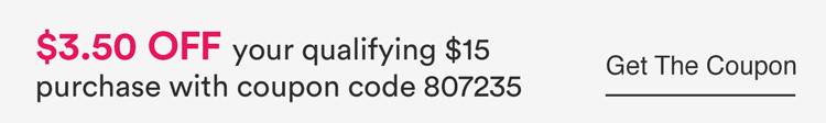 $3.50 off any qualifying $15 purchase with coupon code 807235