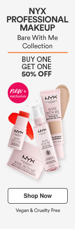 NYX Professional Bare With Me Collection  Vegan & Cruelty Free Buy One Get 1 50%