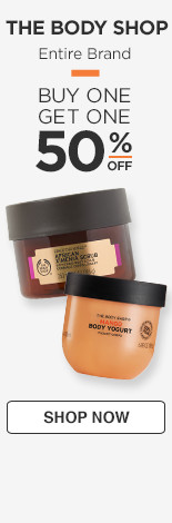 The Body Shop Buy One Get One 50% off