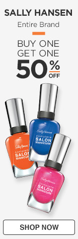 Buy One, Get One 50% off Entire Brand Sally Hansen
