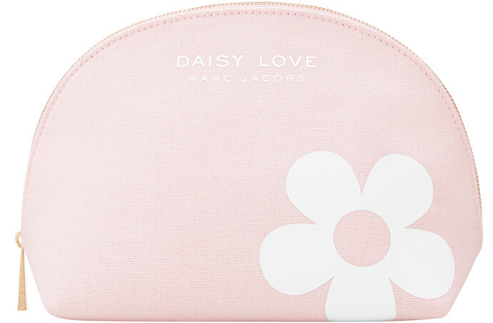 Receive a complimentary Daisy Love cosmetics pouch when you purchase a 3.4 oz. bottle of Marc Jacobs Daisy Love Eau de Toilette.