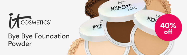 IT Cosmetics 40% off Bye Bye Foundation Powder