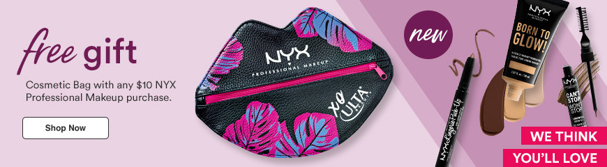 Cosmetic Bag with any $10 NYX Professional Makeup purchase