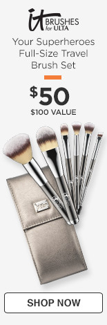 Your Superheroes Full-Size Travel Brush Set, $50. $100 value.