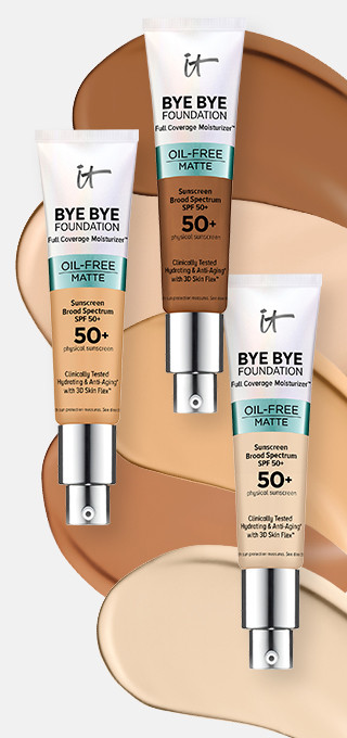 IT Cosmetics Bye Bye Foundation Oil-Free Matte Full Coverage Moisturizer with SPF 50+