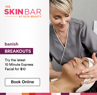Banish breakouts - try the latest 10 Minute Facial for $10.  Book online.