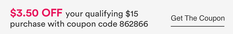 $3.50 off any qualifying $15 purchase with coupon code 862866