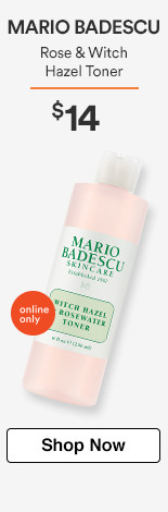 Online Only! Rose & Witch Hazel Toner $14