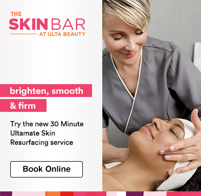 Try the new 30 Minute Ultamate Skin Resurfacing service. Brightens, smoothes & firms. 20% off your first skin service. Book online. Expires 11.3.18.