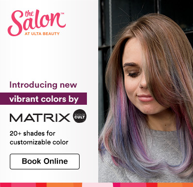 Introducing new vibrant colors from Matrix SoColor Cult. 20+ shades for customizable color. Book online.