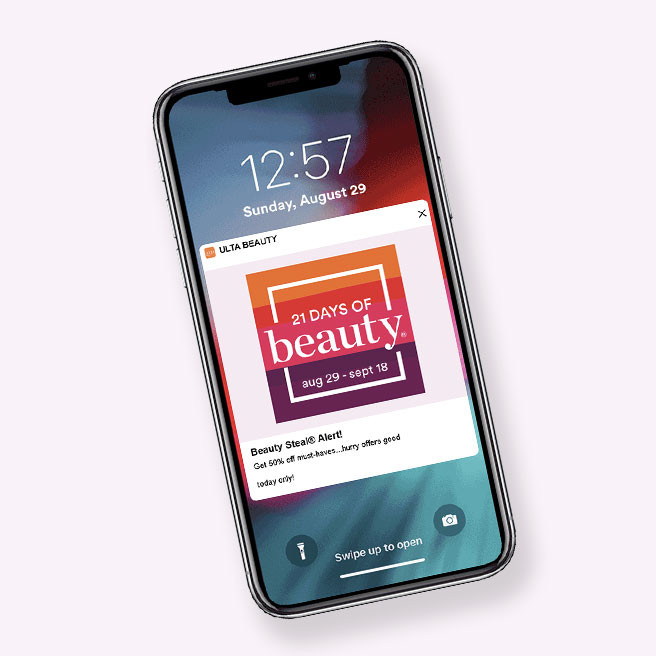 Download the app and opt-in to get notifications for daily Beauty Steals.