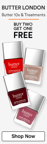 Buy 2 Get 1 Free Butter London 10x and Treatments
