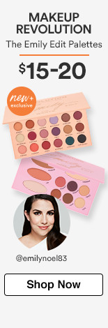 Makeup Revolution New & Exclusive! Revolution x The Emily Edit Palettes $15-20.