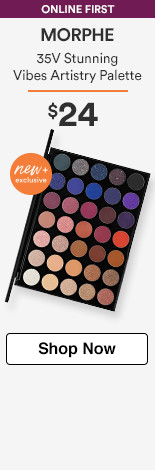 New & Exclusive! Online First Morphe 35V Stunning Vibes Eyeshadow Palette $24.