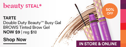Tarte Double Duty Beauty Busy Gal Brows Tinted Brow Gel. 50% off. Now $9. Regular $18.
