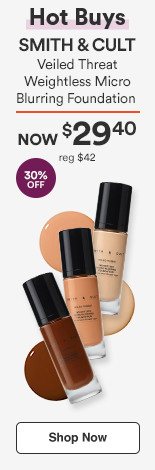 HOT BUY! 30% off  Veiled Threat Weightless Micro-Blurring Foundation NOW $29.40 reg $42.00