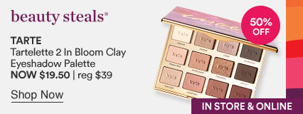 50% off  Tartelette 2 In Bloom Clay Eyeshadow Palette