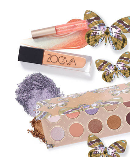 Zoeva – the Melody Eyeshadow Palette comes in 10 soft and shimmery shades. It's packaging displays a butterfly, signifying transformation and strength.