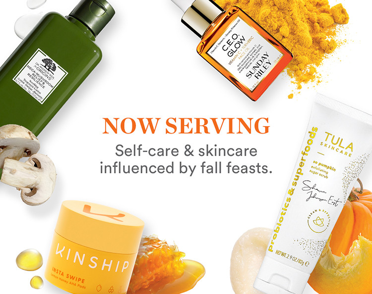 Now Serving Skincare Fall Ingredients