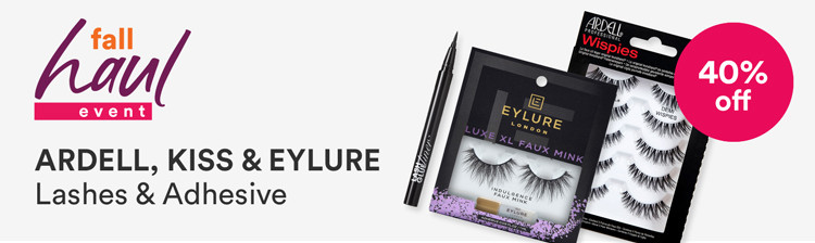 Fall Haul - 40% off Ardell, Kiss & Eylure  Lashes & Adhesive