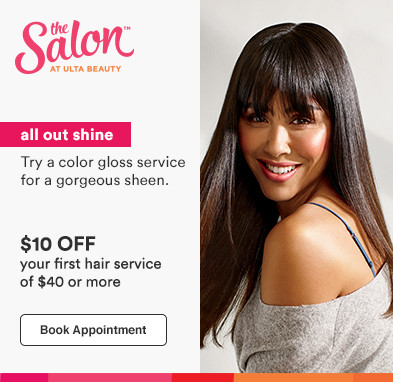 All out shine.. Try a color gloss service. $10 off your first hair service of $40 or more*. Disclaimer: *Offer valid for new, first-time salon guests.  Must present promotional offer at time of service. Excludes hair extensions. Value of services varies by Stylist and location. Cannot be combined with any other beauty service. Offer expires 10.31.20