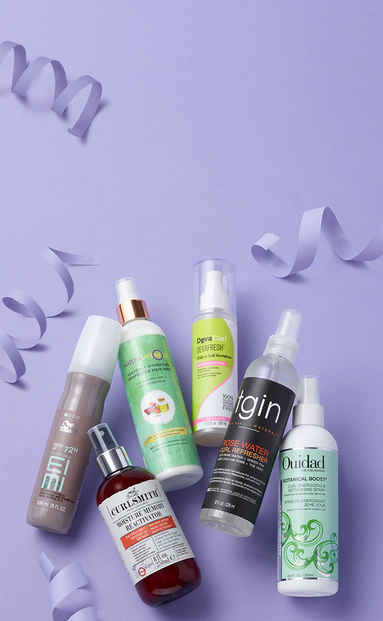 This month's Hair Heroes is Curl Refreshing Sprays. Discover our six product picks to help you achieve your hair goals.