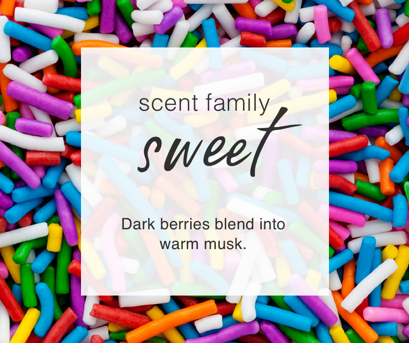 Scent Family: Sweet. Dark berries blend into  warm musk.