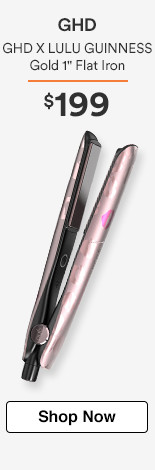 "GHD X LULU GUINNESS Gold 1"" Flat Iron $199"