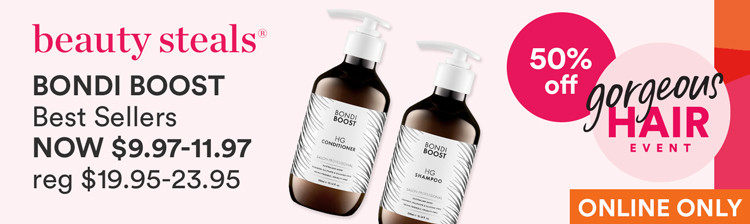 50% off Bondi Boost Best Sellers NOW $9.98-11.98
