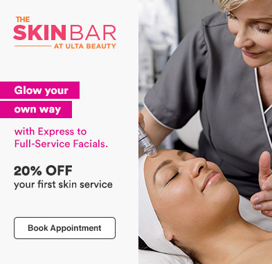 Glow Your Own Way with Express to Full- Service Facials. 20% off your first skin service.