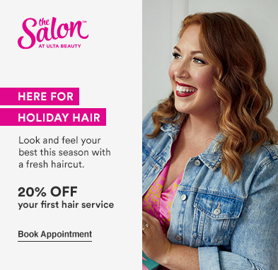 Look and feel your best this season with a fresh haircut  Offer: 20% off your first hair service*   Disclaimer: Offer valid for new, first-time Salon guests. Must present promotional offer at time of service. Excludes hair extensions. Cannot be combined with any other beauty service offer. Offer expires 12.26.20.