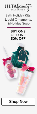 Buy One Get One 50% off bath holiday kits, liquid ornaments, holiday soap.