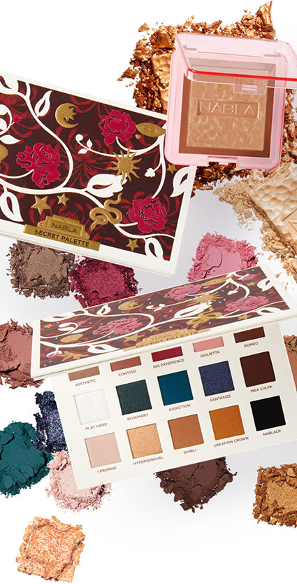 Nabla – Eyeshadow palettes and highlighters are the stars of the NABLA collection. Created by professional makeup artists, each shade is luxuriously pigmented and blendable for incredibly payoff.