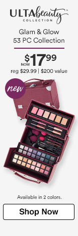 Glam & Glow 53 pc Collection Now $19.99 Reg. $29.99. $200 Value Available in 2 colors.