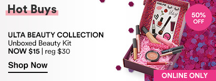 Hot Buy Sale. 50% off Online Only Unboxed Beauty Kit Now $15. Reg. $30. $70 Value!