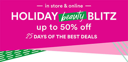 Shop Ulta Beauty's Holiday Beauty Blitz Sale and unwrap a new set of offers - up to 50% off each week now through Dec 25.