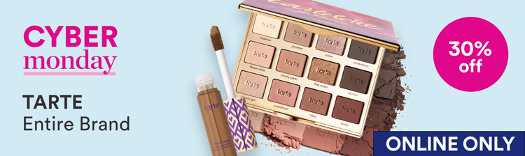 Cyber Monday: Tarte 30% off