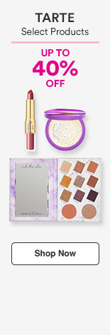 up to 40% off Select Tarte