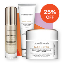 Bareminerals NOW $11.25-45 All Skincare reg $15-60