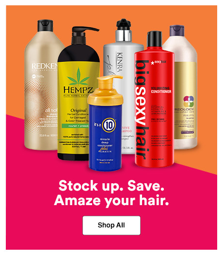 Shop All your favorite Shampoos and Conditioners during Ulta Beauty's Jumbo Love Sale.