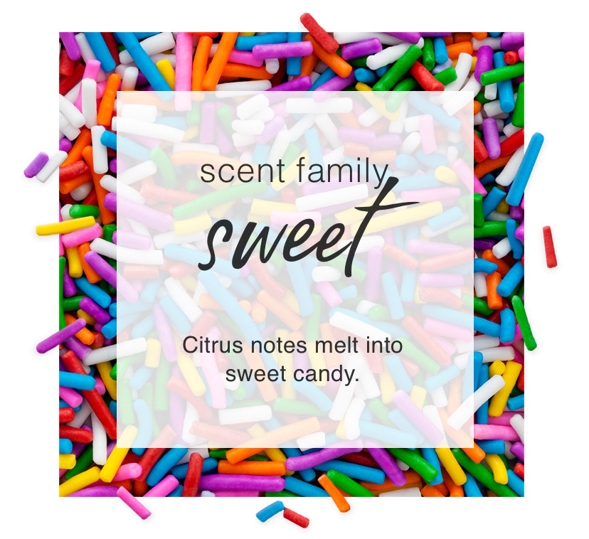 Scent Family: Sweet. Citrus notes melt into  sweet candy.